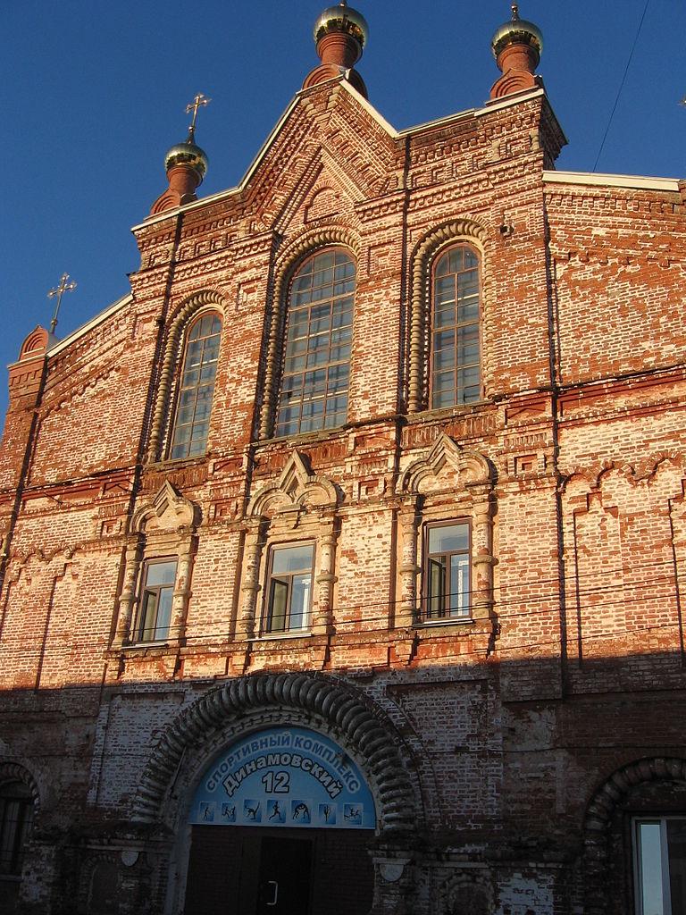 Спасо-Преображенский монастырь в Кирове, фасад церкви во имя иконы Божией матери