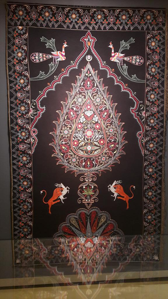 В азербайджанском музее ковра, Баку