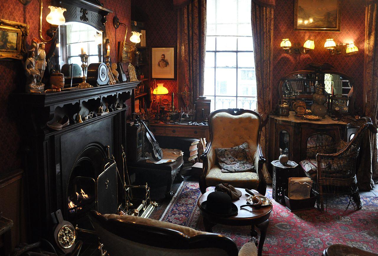 Музей Шерлока Холмса в Лондоне, гостиная