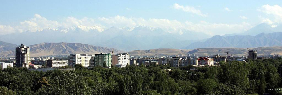 Панорамный вид на Бишкек