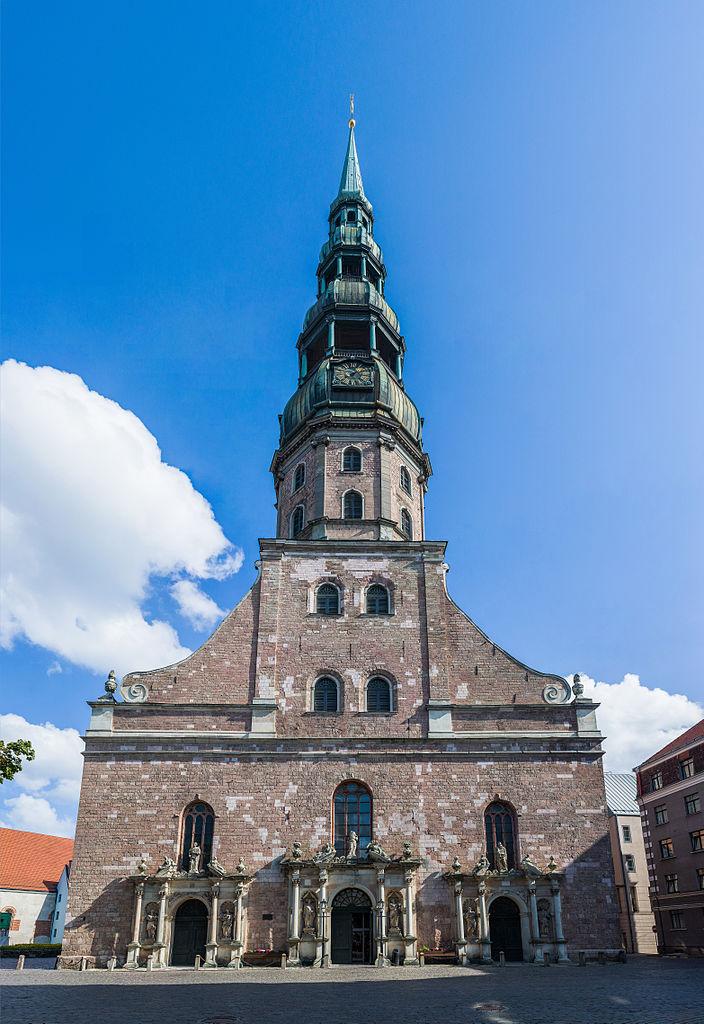 Церковь Святого Петра в Риге, фасад