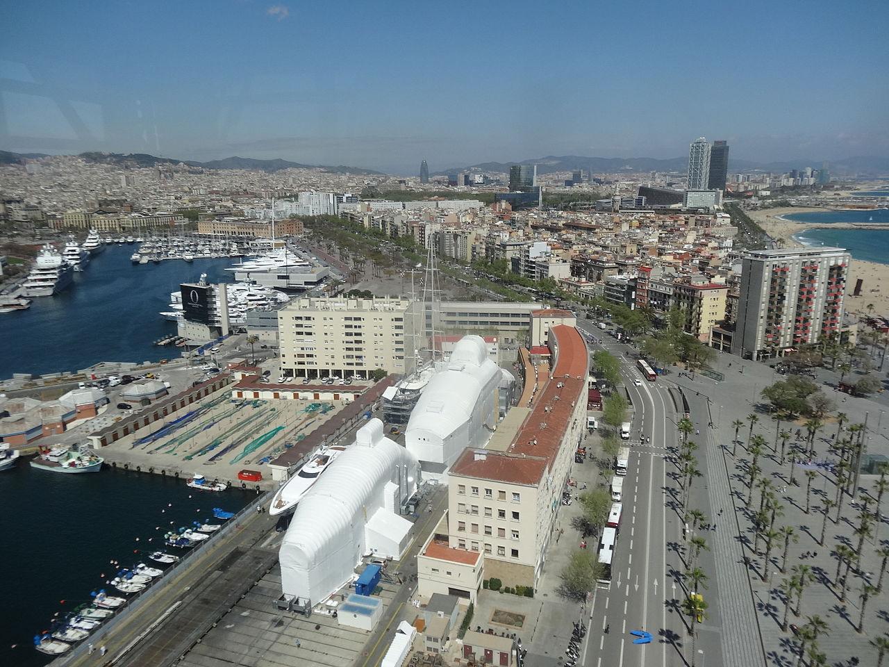 Вид на Барселонету
