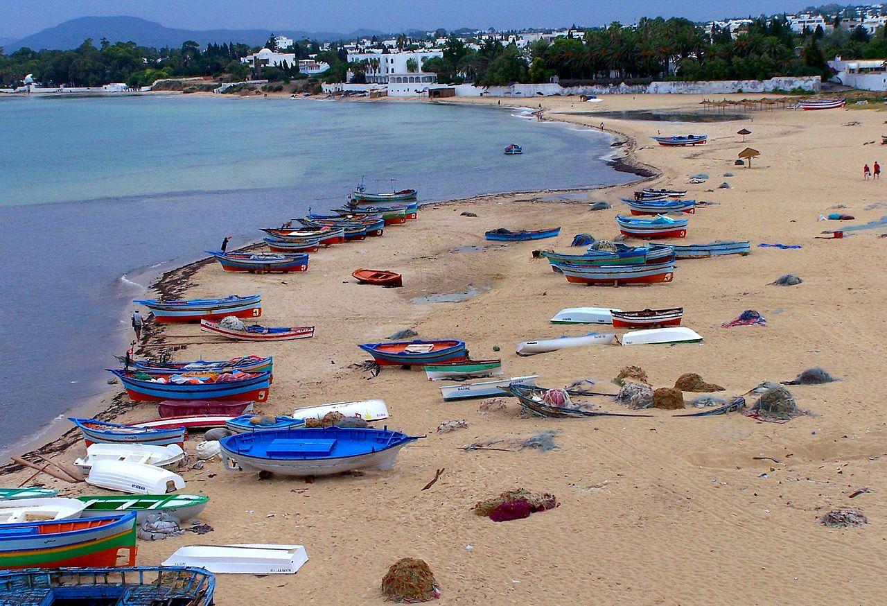 Панорама пляжа Хаммамета, Тунис