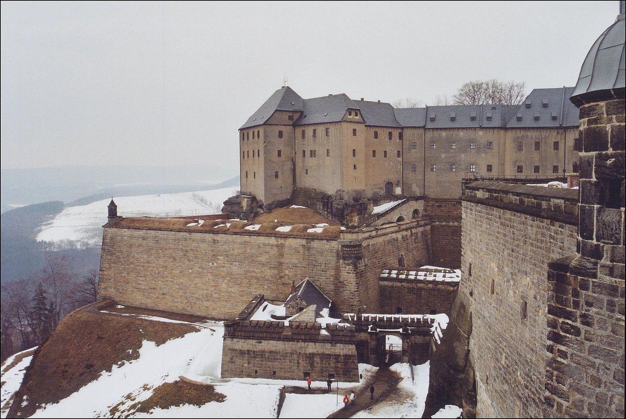 Саксонская Швейцария, крепость Кёнигштайн