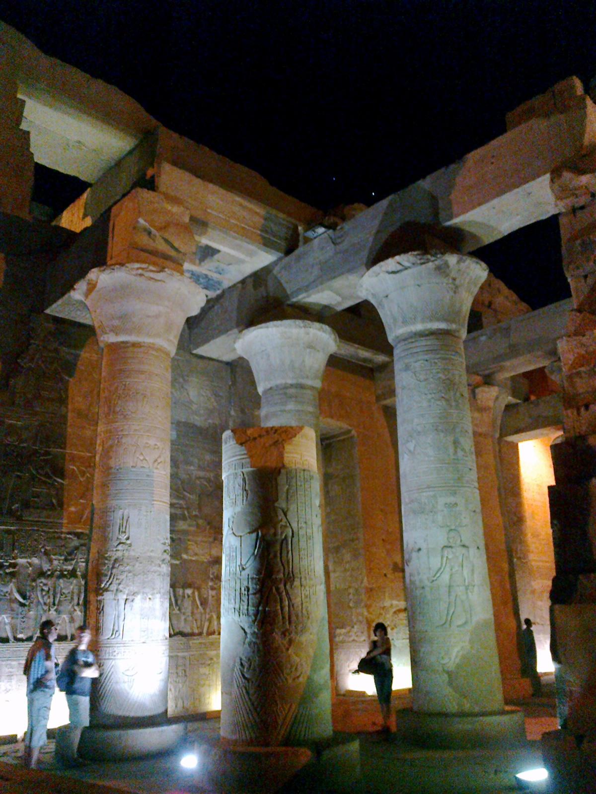 Храм Ком-Омбо, интерьер