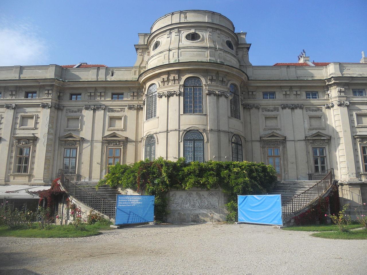 Шварценбергский дворец в Праге, внутренний фасад