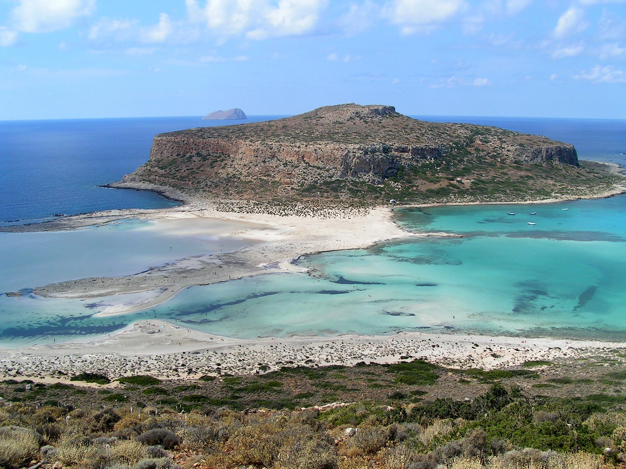 Вид на пляж Балос, Крит