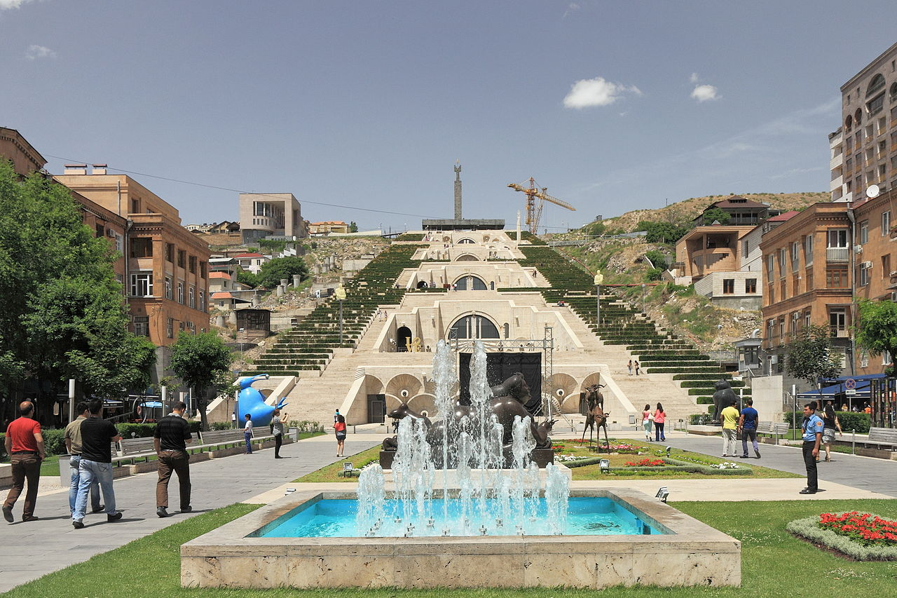 Каскад в Ереване, многоярусная смотровая площадка