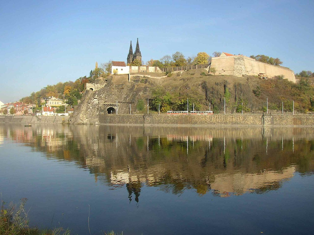 Вышеград, вид с реки Влтавы