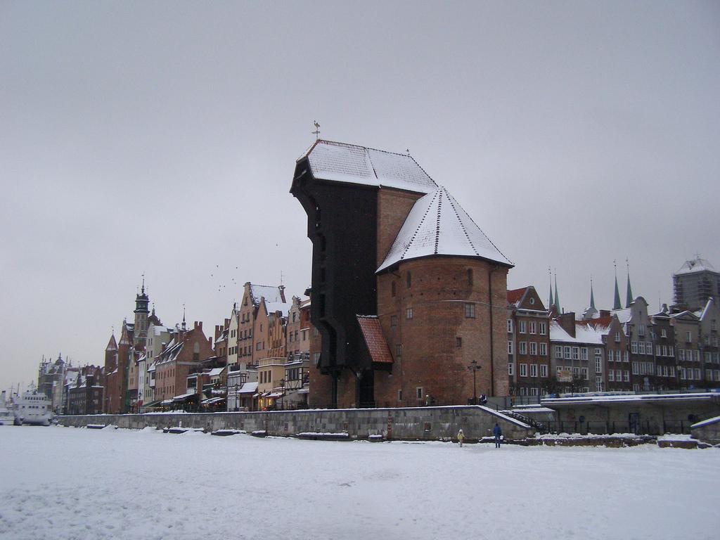 Журав зимой, Гданьск