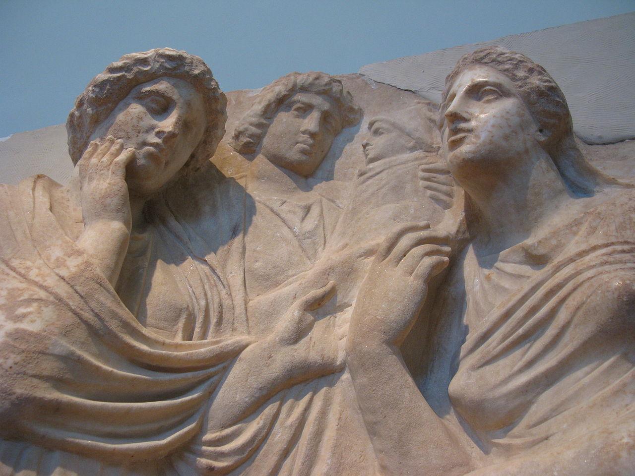 Национальный археологический музей, барельеф на надгробии