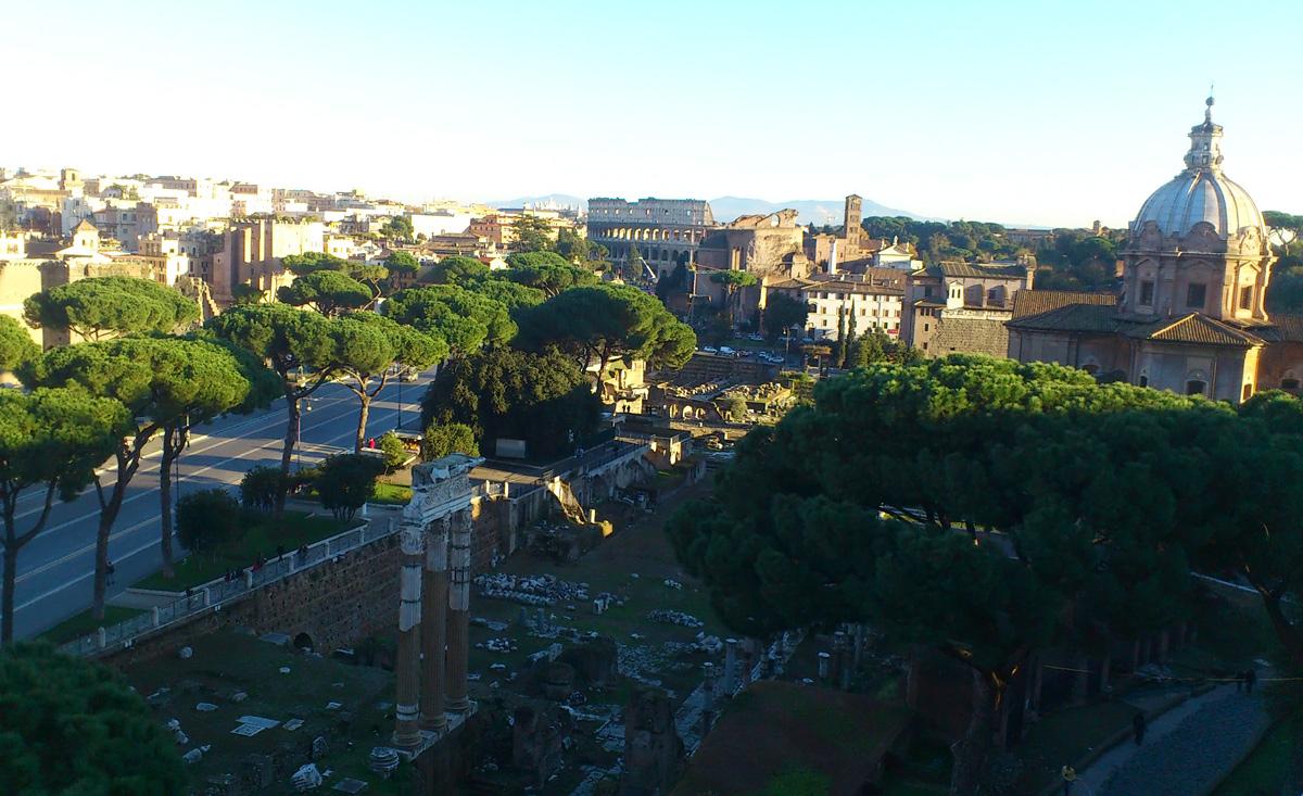 Вид на Римский форум, Рим