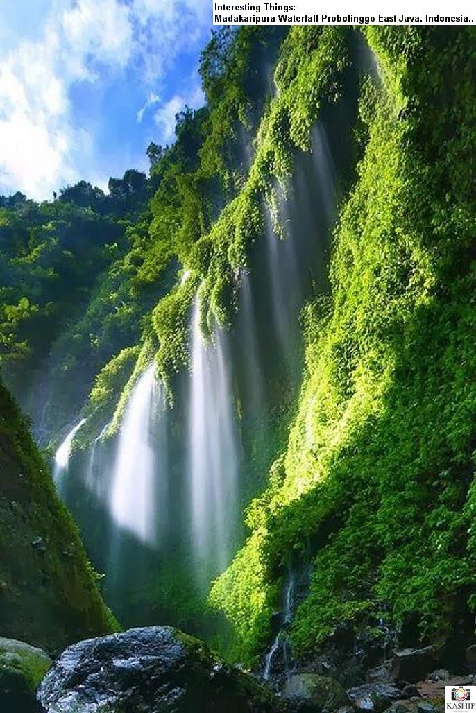 Национальный парк Бромо-Тенггер-Семеру, водопад