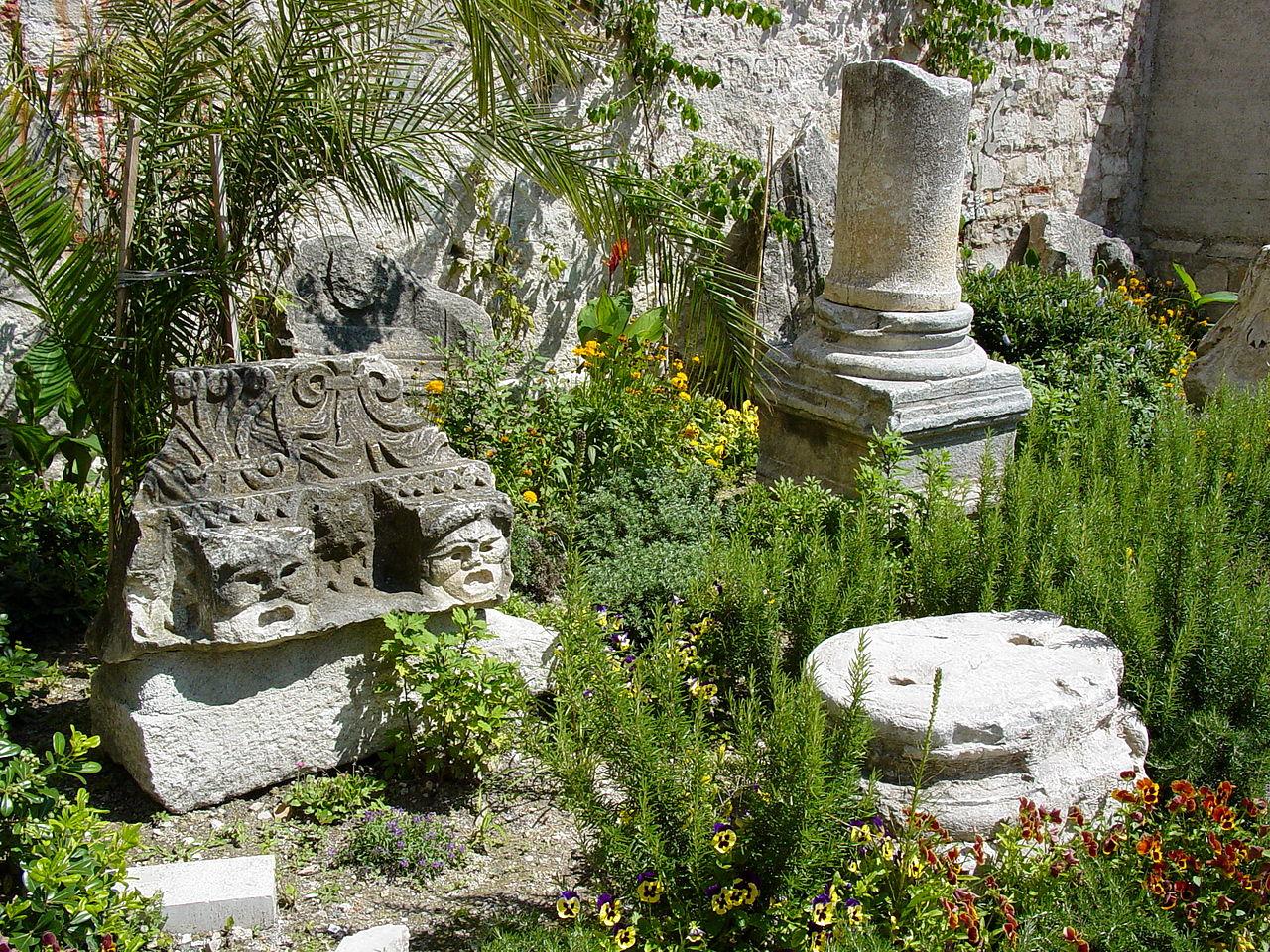 Дворец Диоклетиана, сад