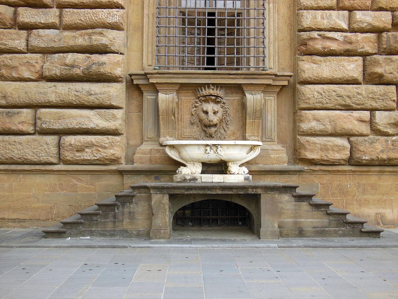 Палаццо-Питти, фонтан