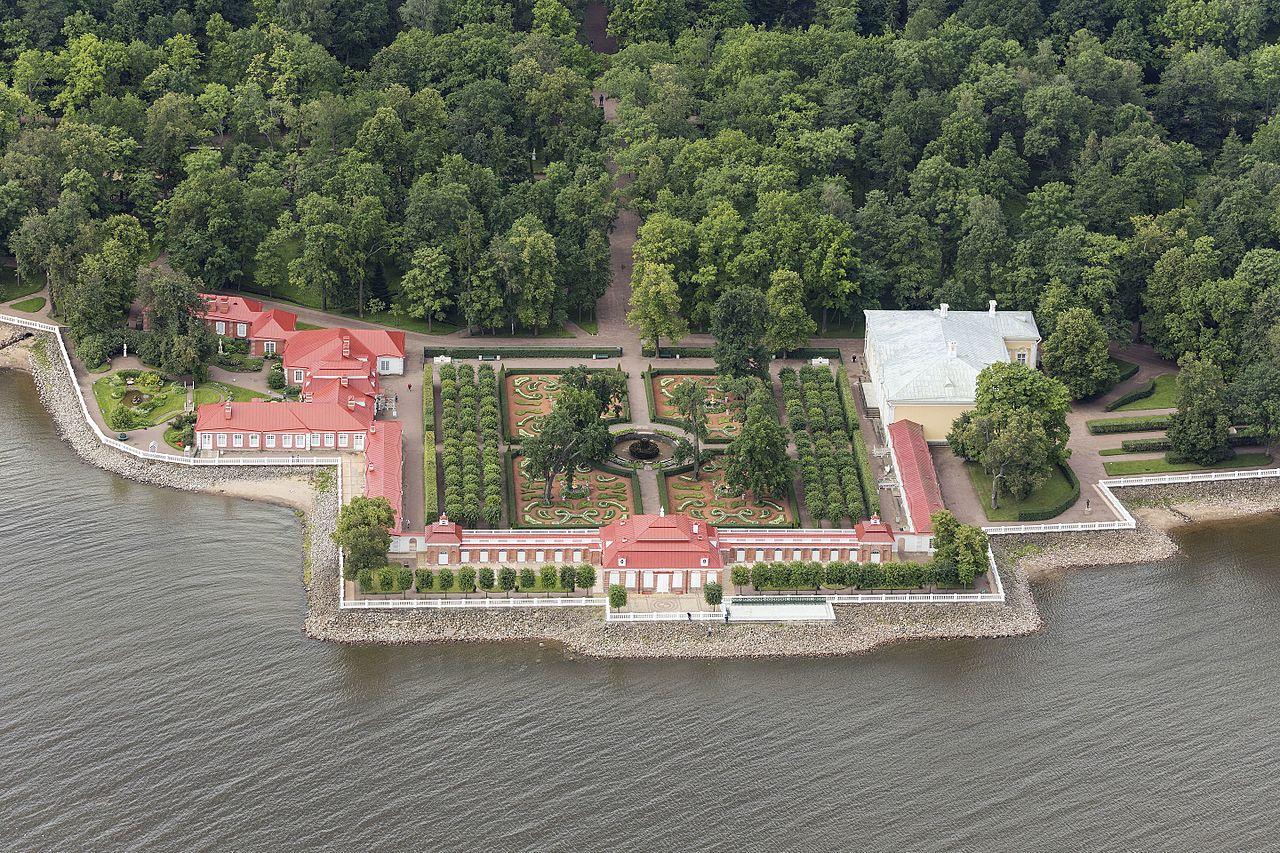 Дворец Монплезир, вид с воздуха