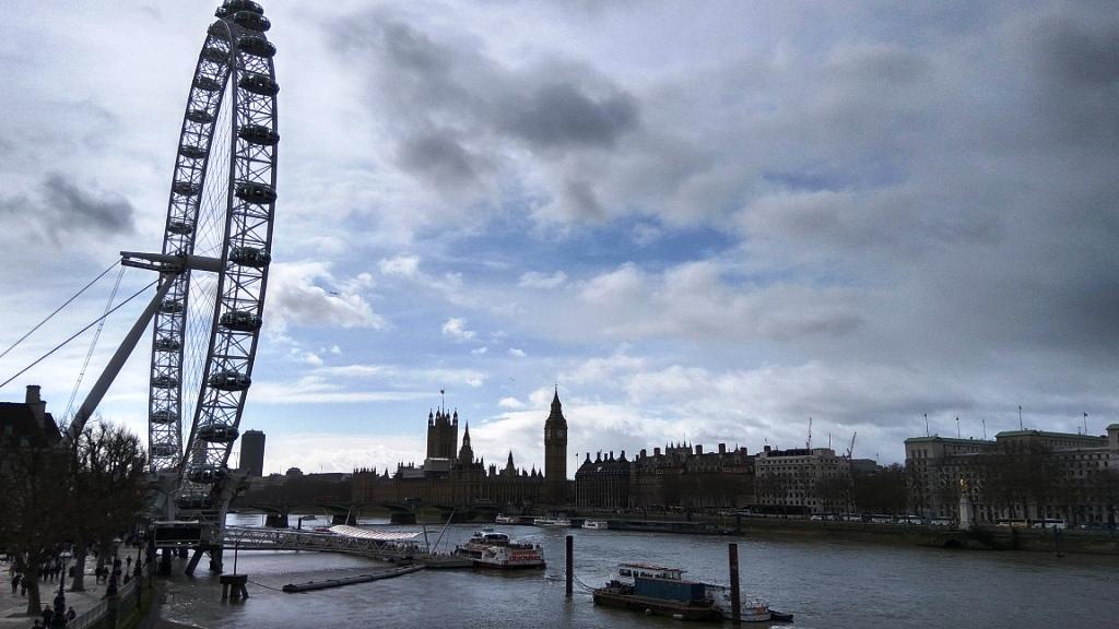 Лондонский глаз и виды города