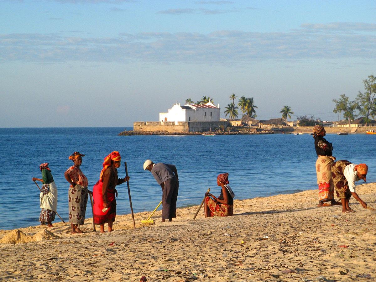Пляж, остров Мозамбик
