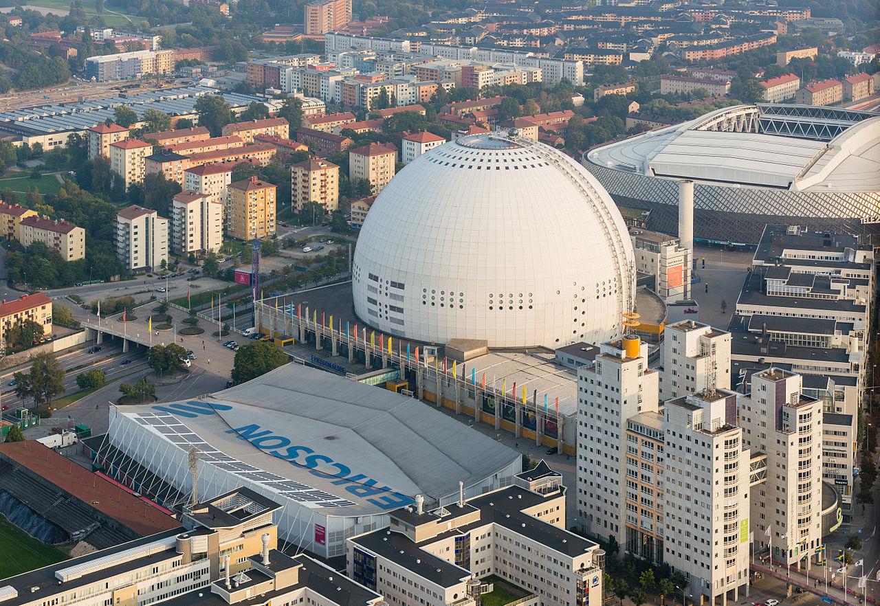 Глобен-Арена, вид с воздуха