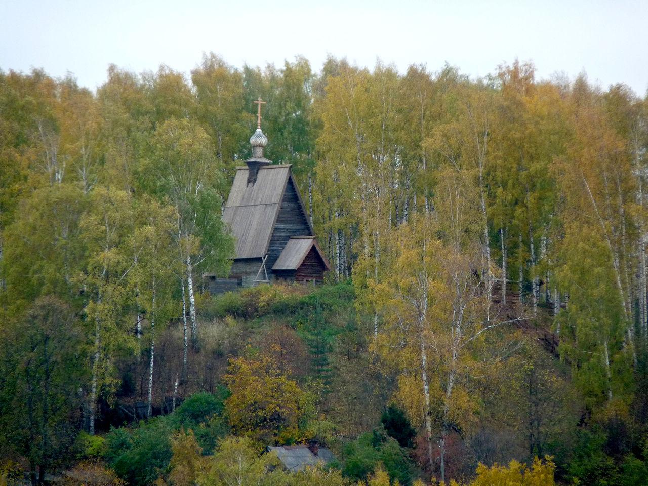 Вид на Воскресенскую деревянную церковь, Плес