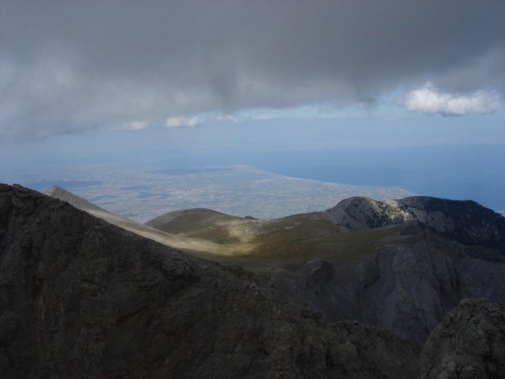 Вид с пика Митикас, Гора Олимп