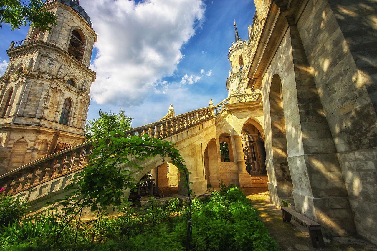 Быково, Владимирская церковь , лестница и колокольня