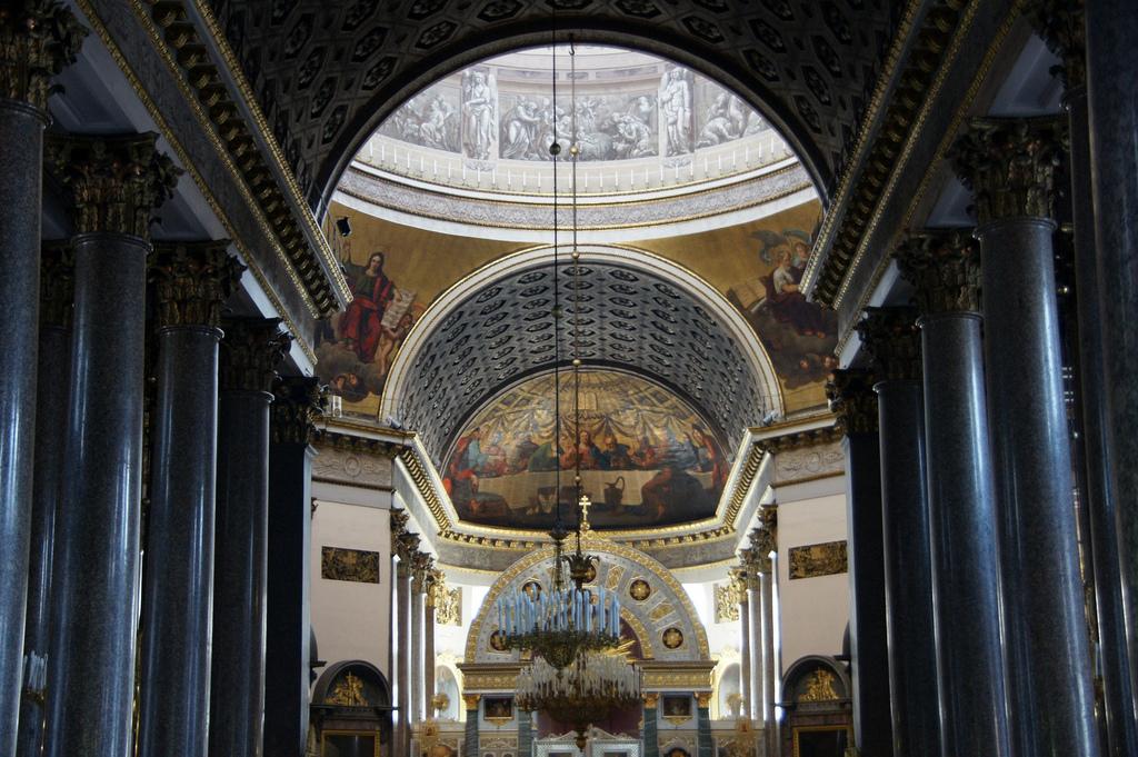Внутри Казанского собора в Петербурге