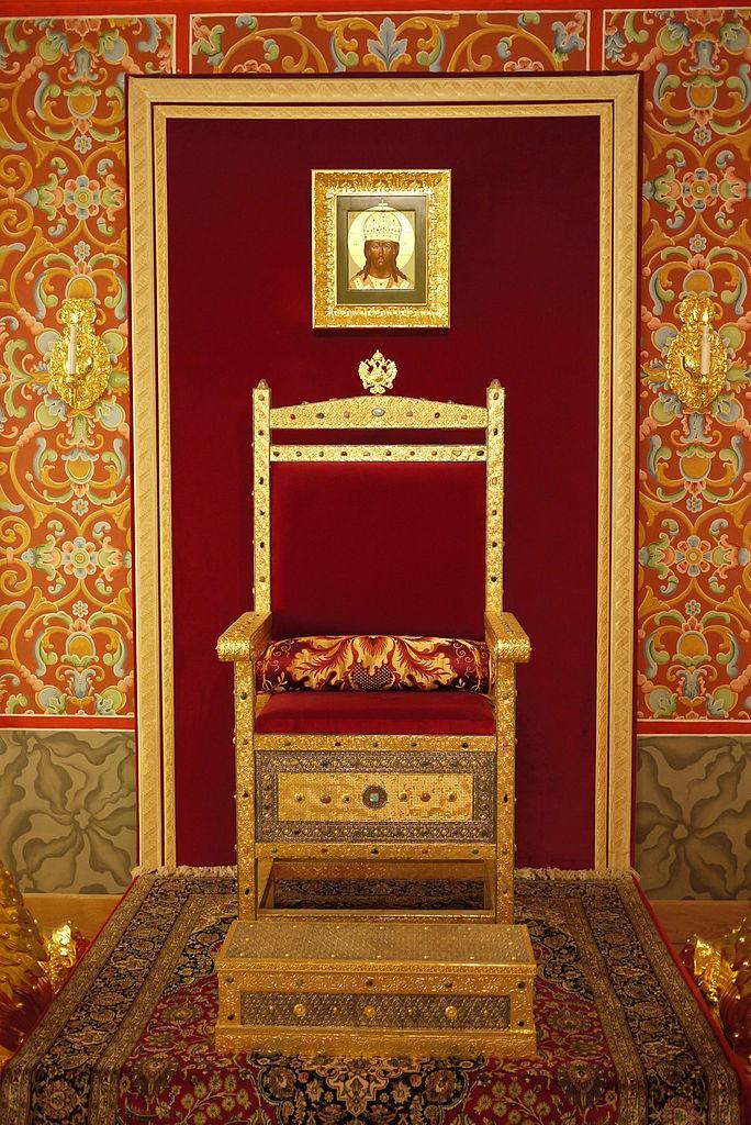 Коломенский дворец, трон