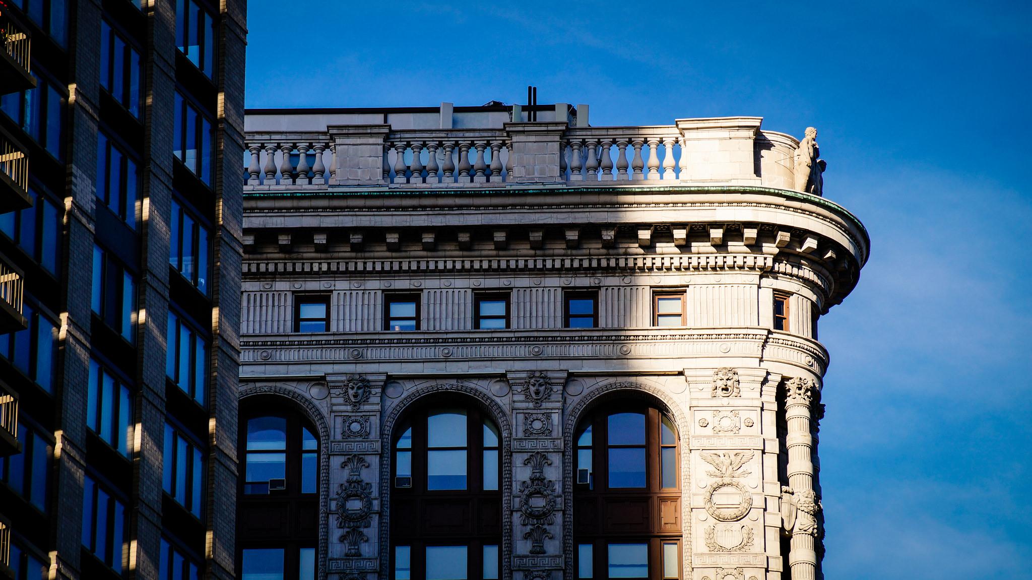 Крыша Флэтайрон-билдинг, Нью-Йорк