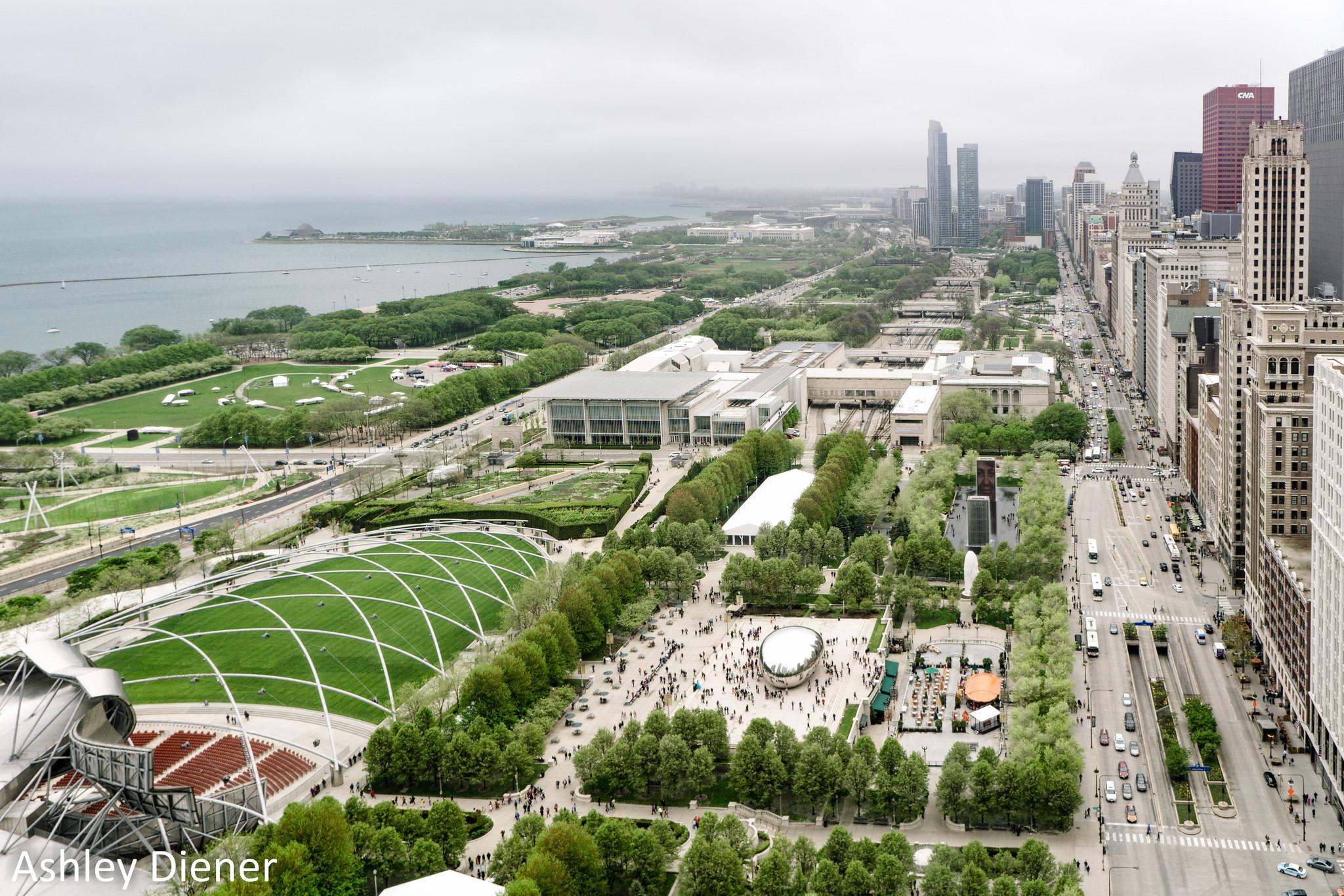 Панорамный вид на Миллениум-парк в Чикаго