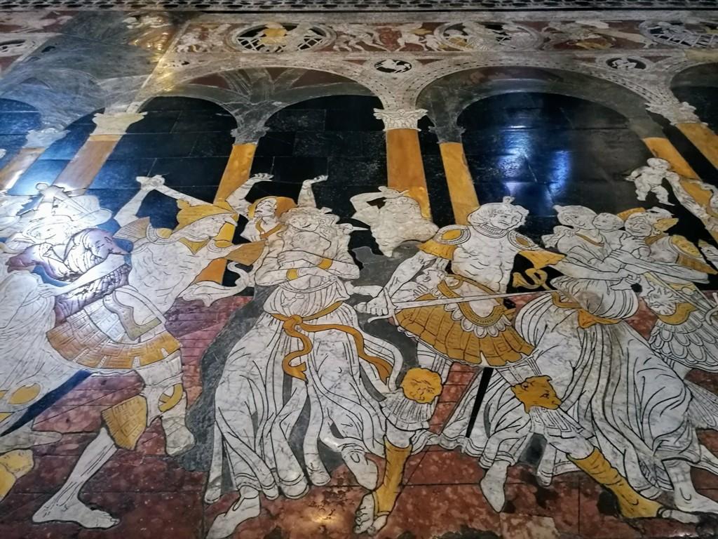 Потрясающая мозаика в Сиенском соборе, Италия