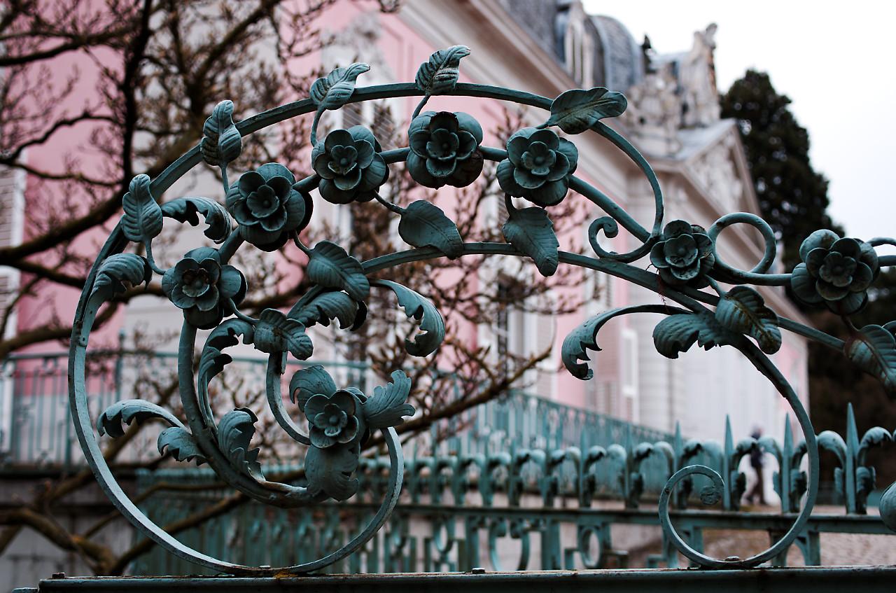 Дворец Бенрат, элемент ограды