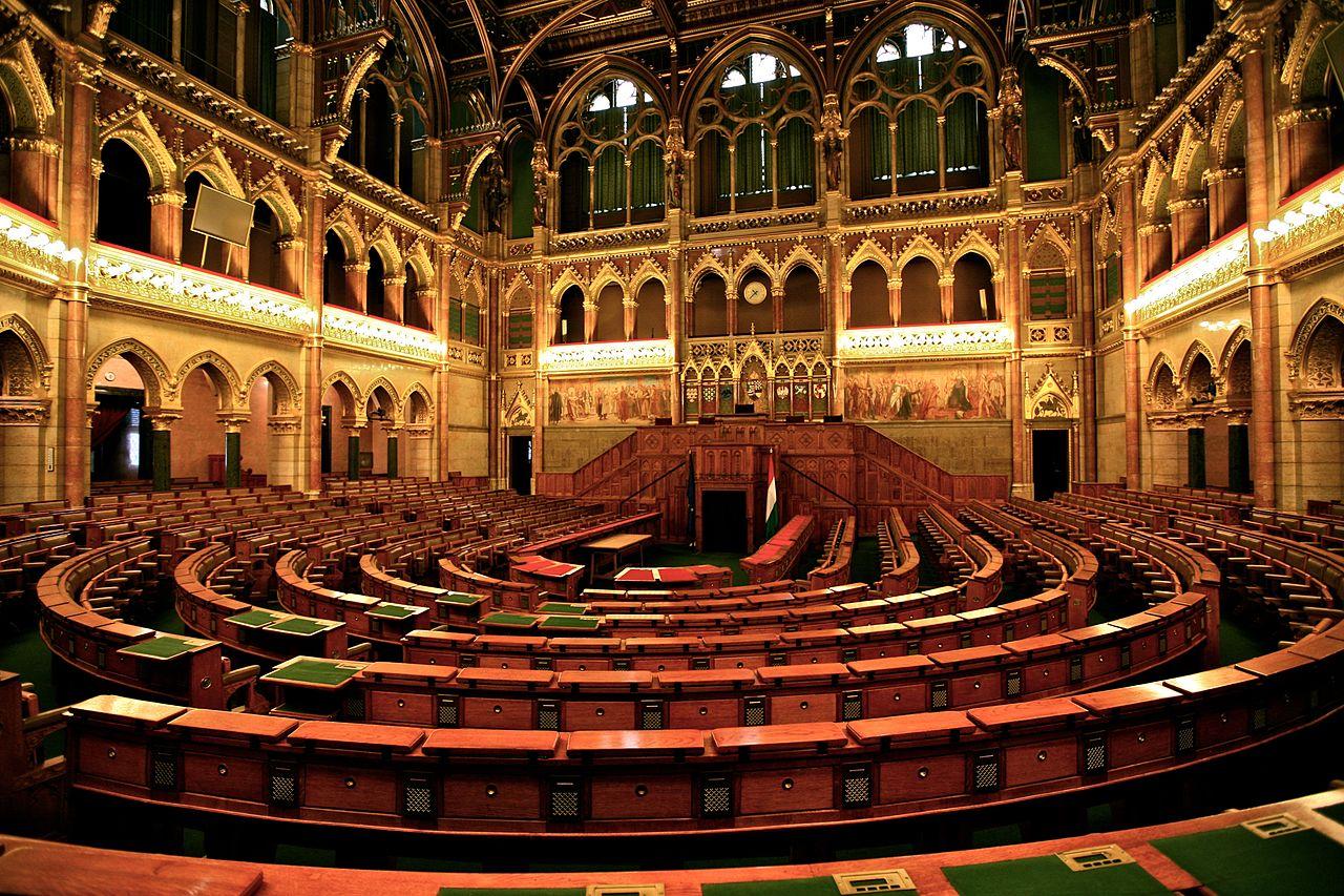 Здание венгерского парламента, зал дебатов
