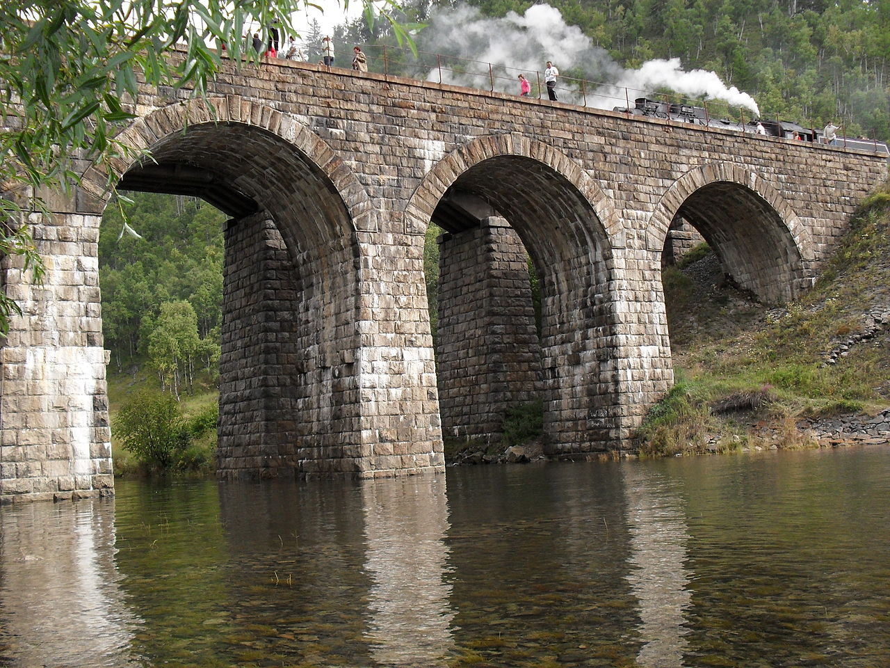 Кругобайкальская железная дорога, мост