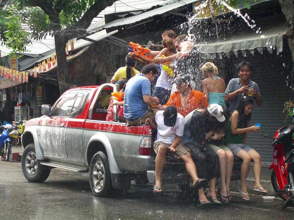 Фестиваль воды в Таиланде