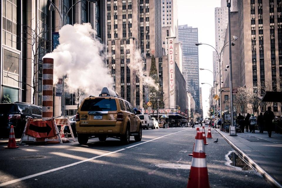 Движение на улицах Нью-Йорка