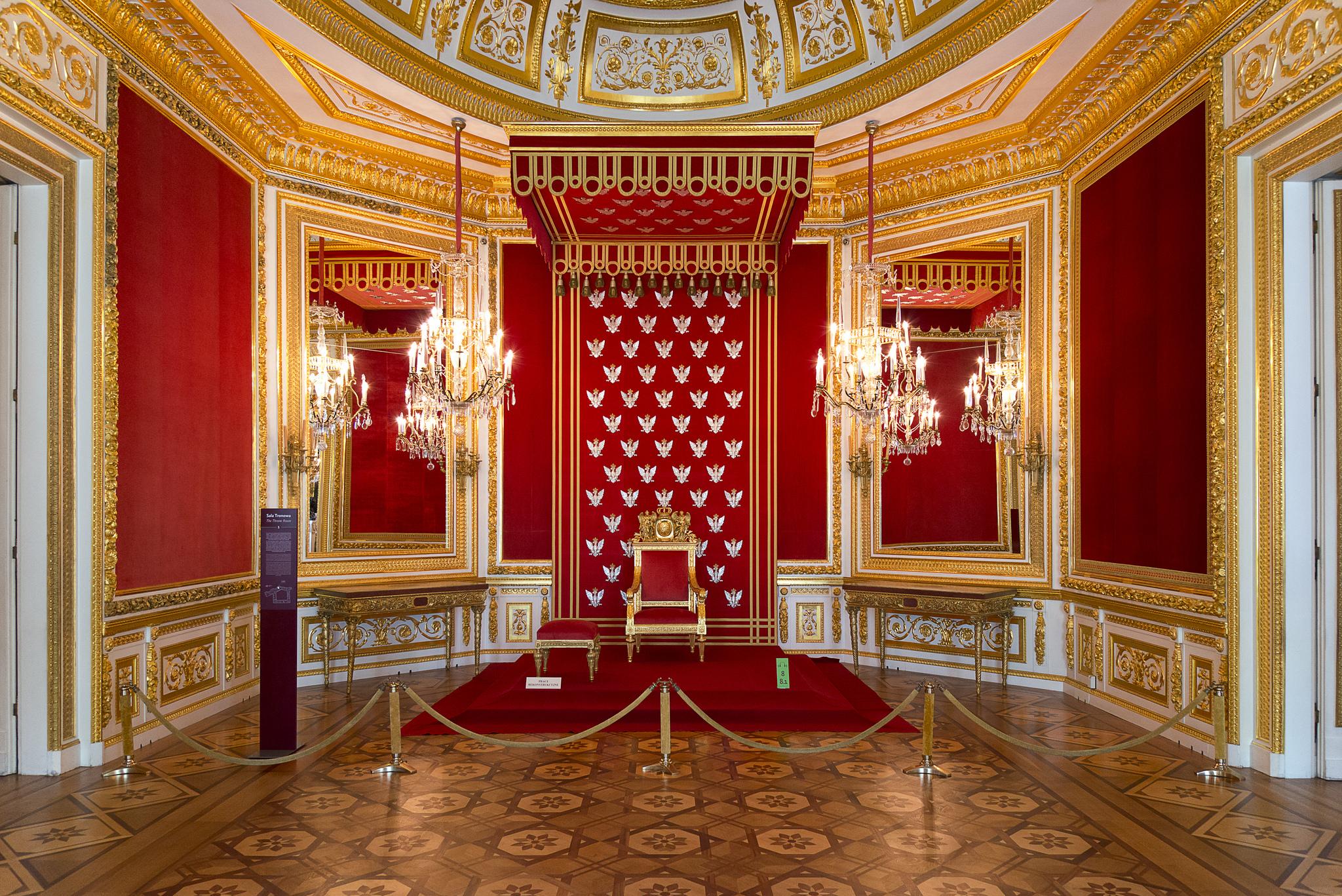 Королевский замок в Варшаве, тронный зал
