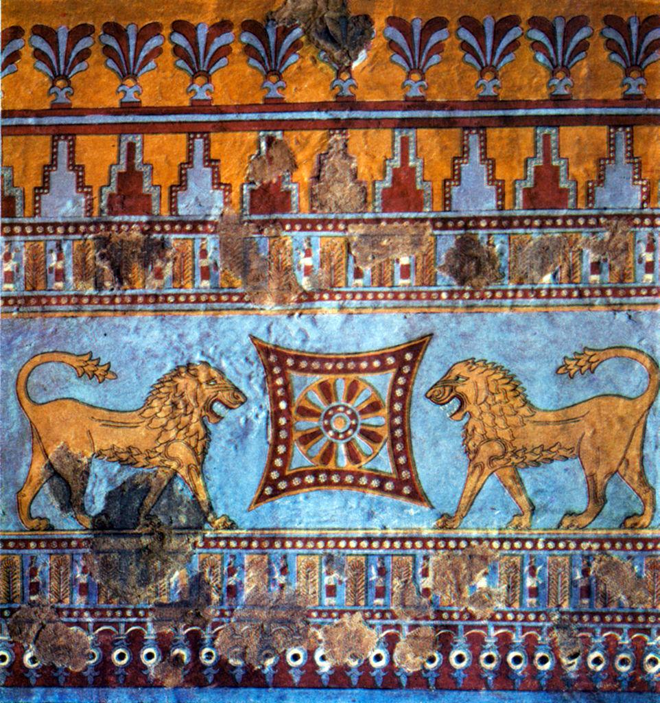 Монументальная роспись из крепости Эребуни