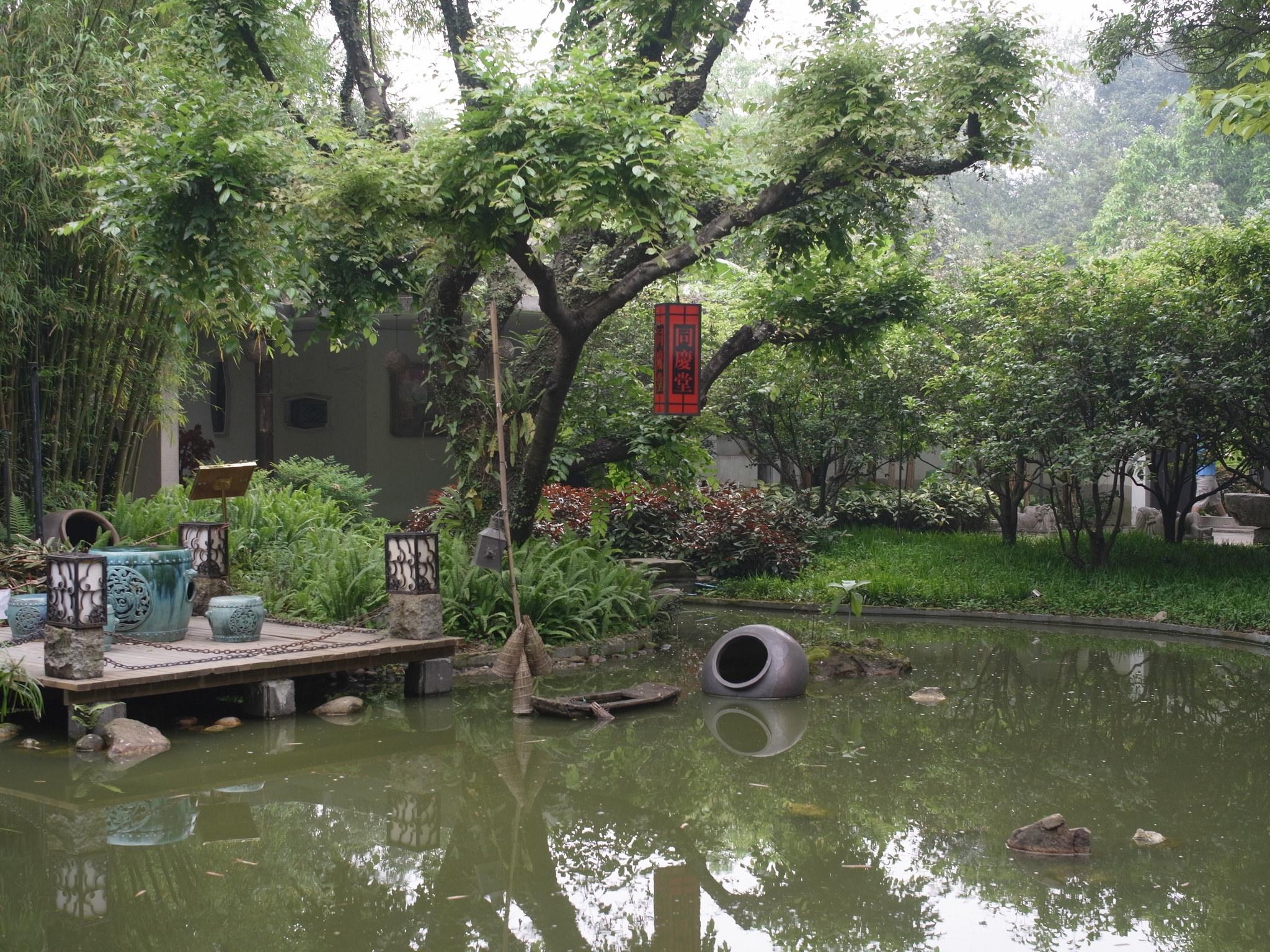 Сад орхидей в Гуанчжоу, пруд