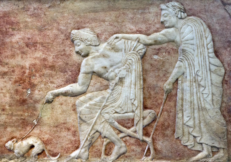 Археологический музей Керамика, фрагмент погребальной мраморной вазы
