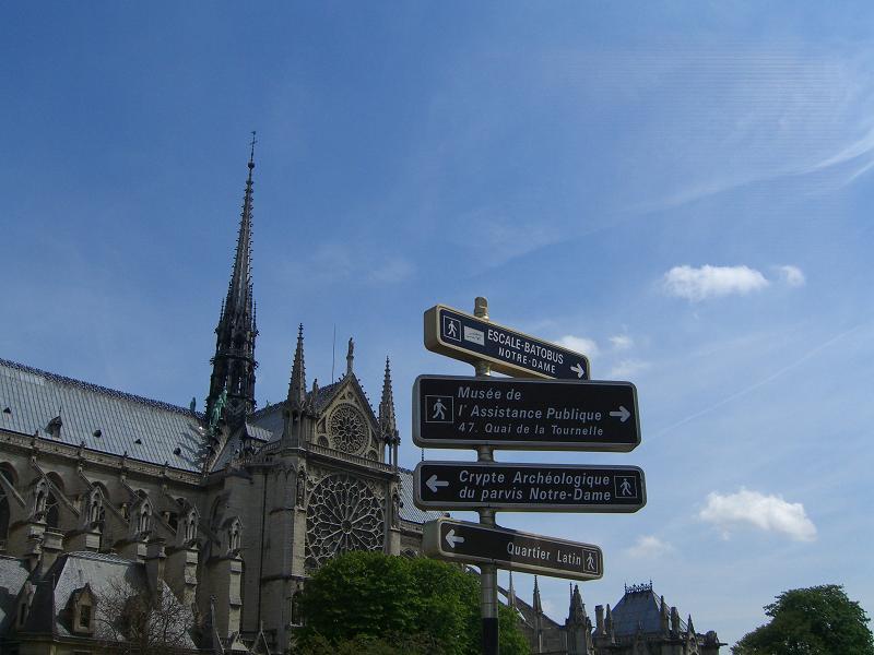 Указатели в Париже, Франция