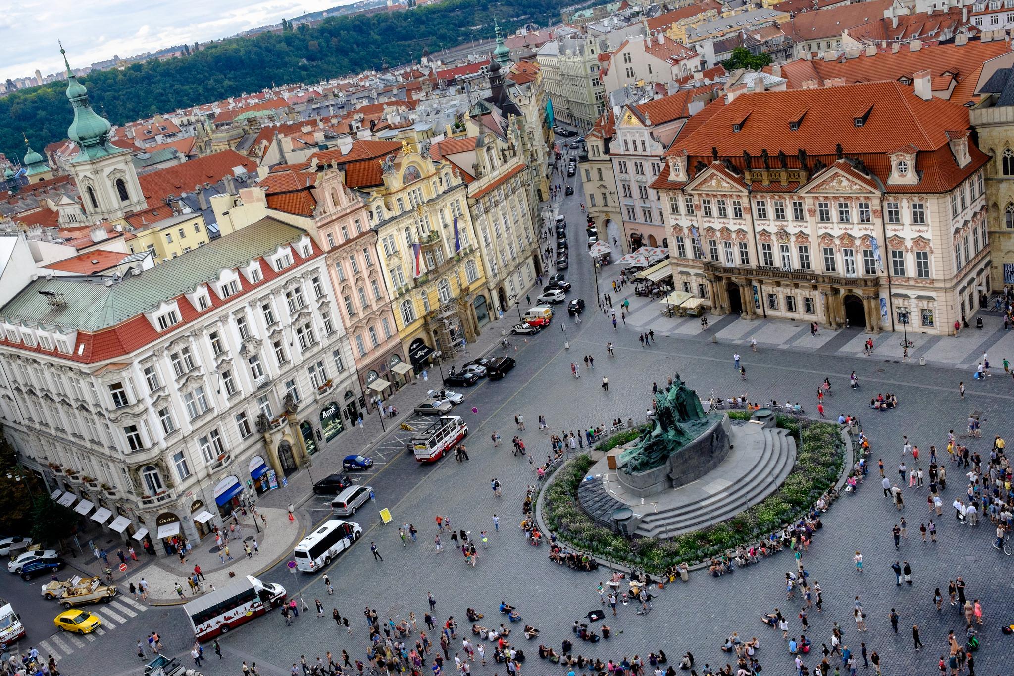 Вид на Староместскую площадь, Прага