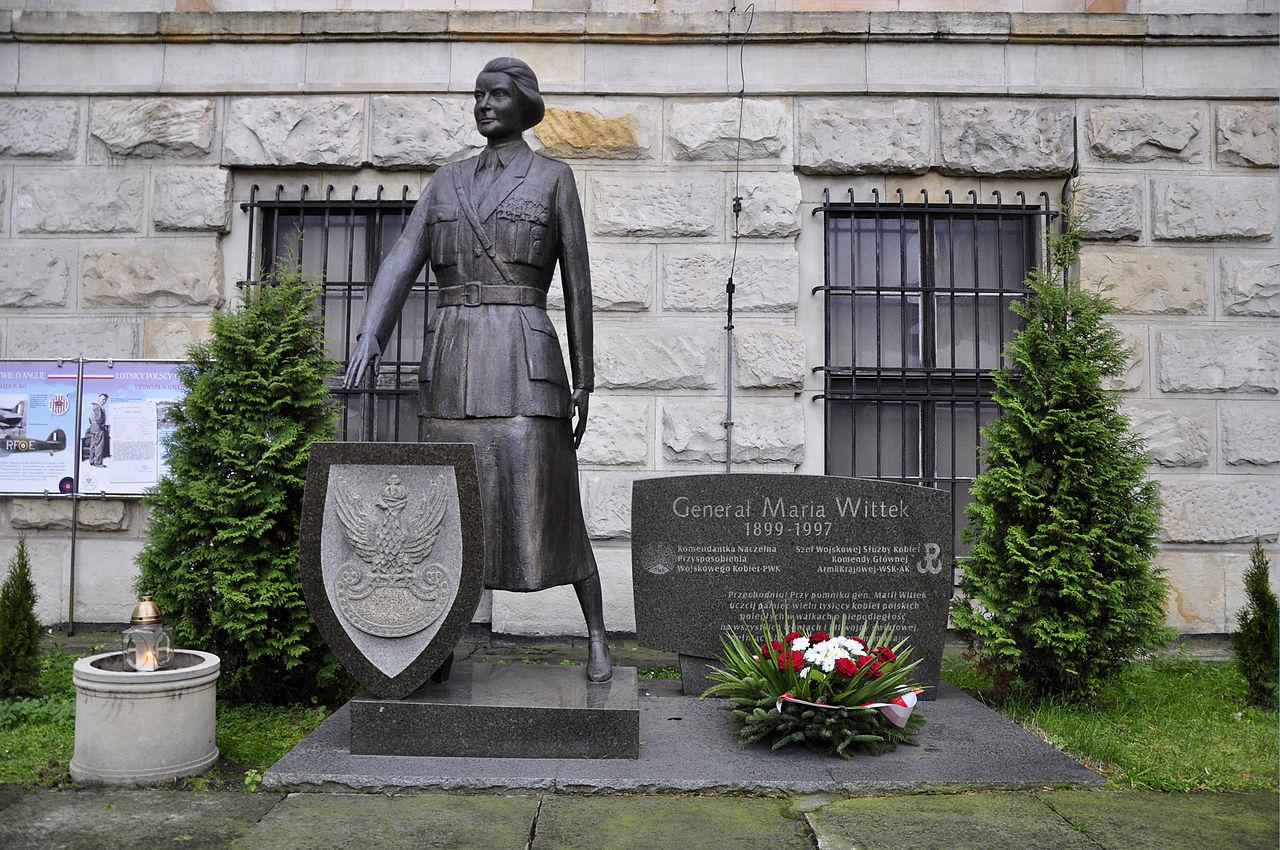 Музей Войска Польского, памятник Марии Виттек