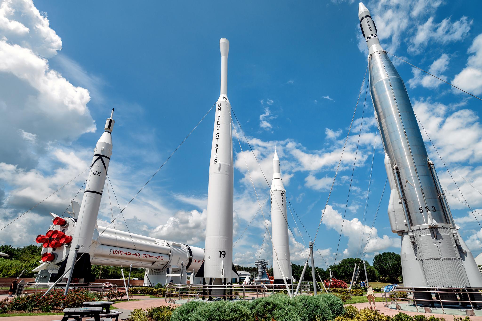 Космический центр Кеннеди, Парк ракет
