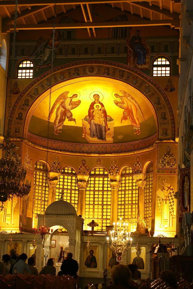 Алтарь церкви Агиос Димитриос в Салониках.JPG