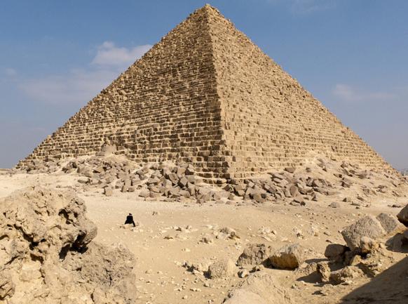 Пирамида Микерина в Гизе