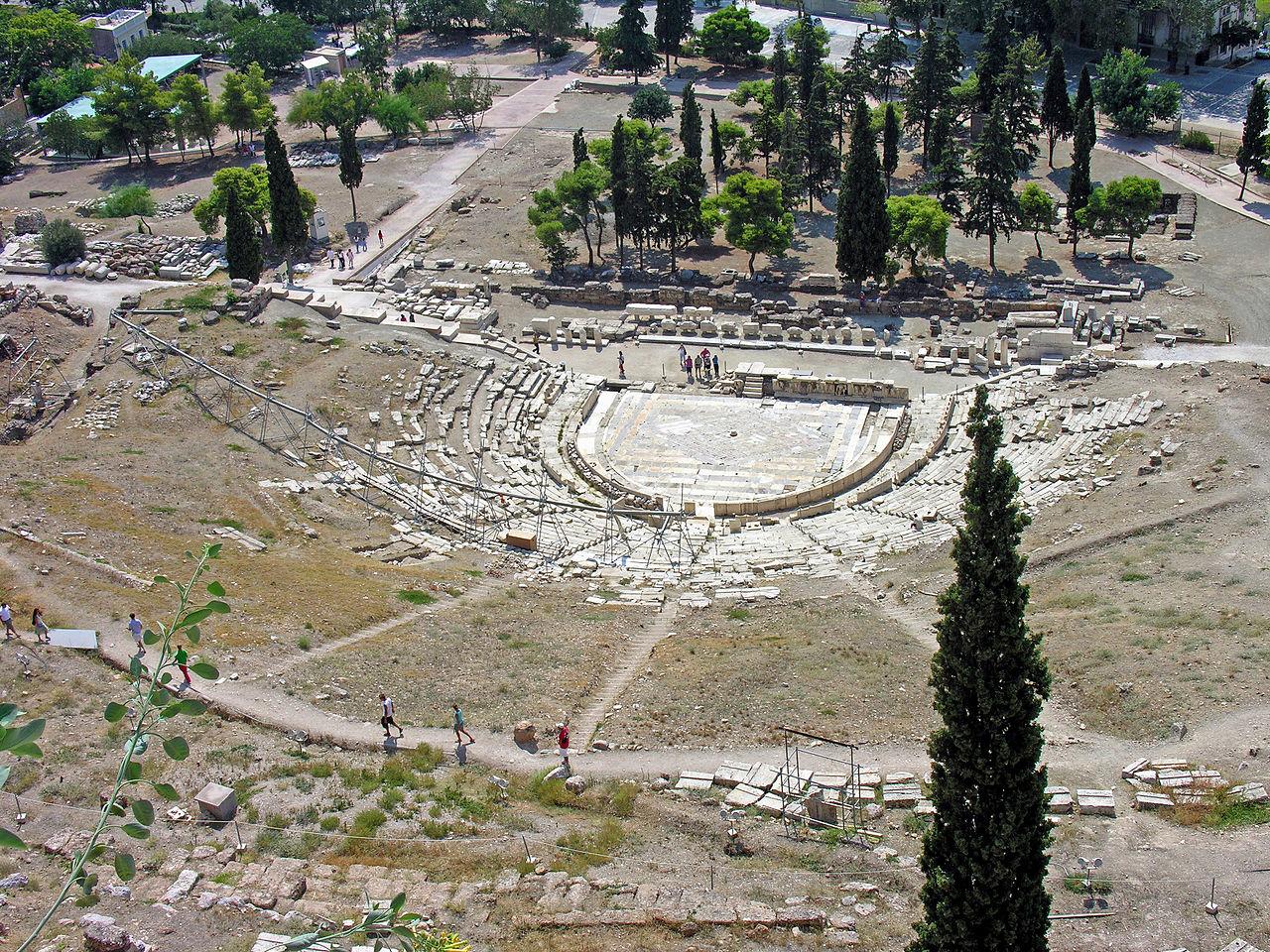Театр Диониса,вид с холма