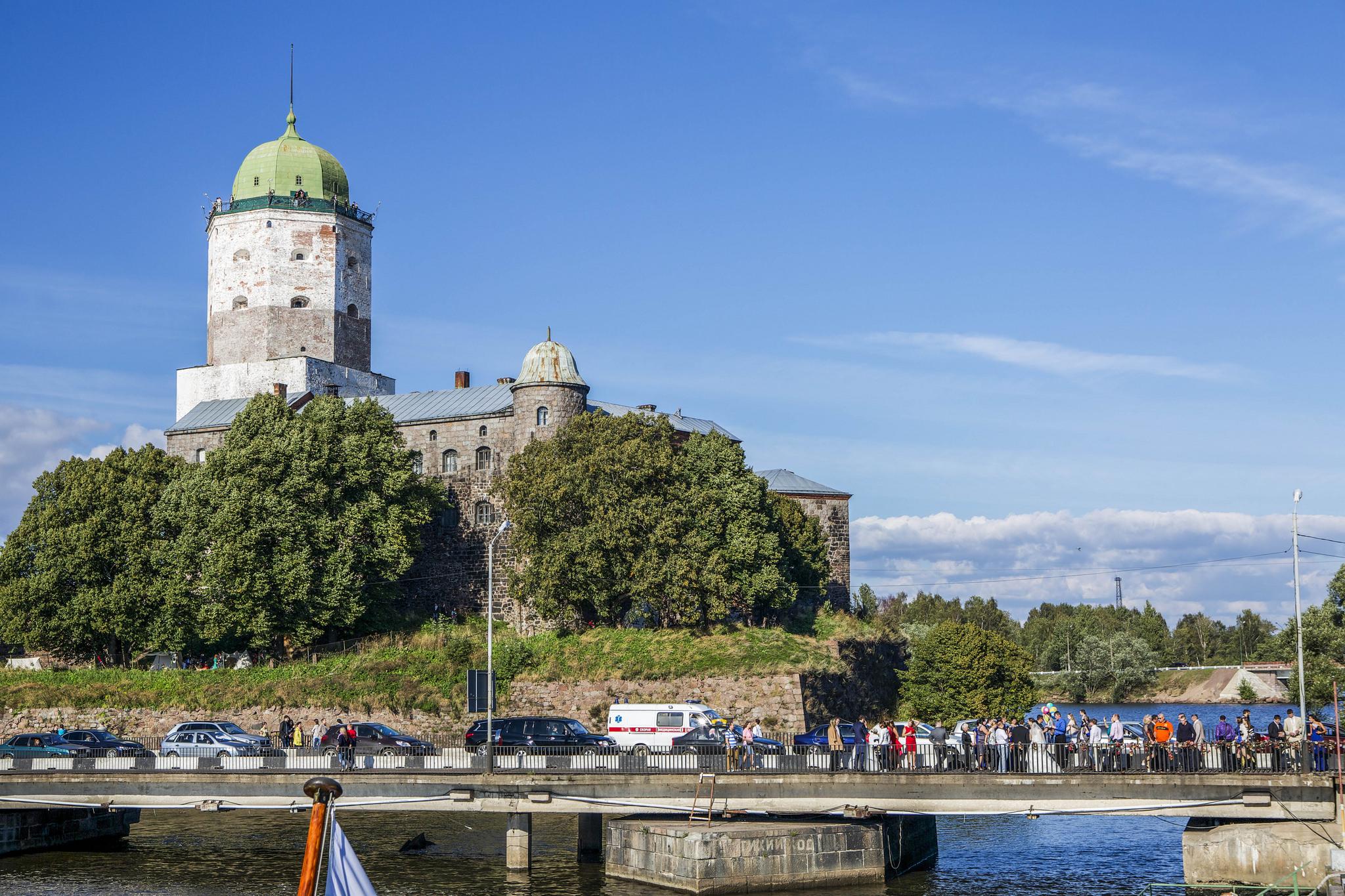 Вид на Выборгский замок, Выборг