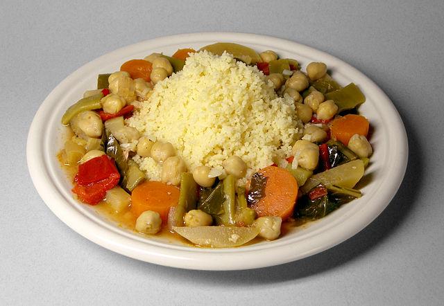 Кускус с овощами и нутом