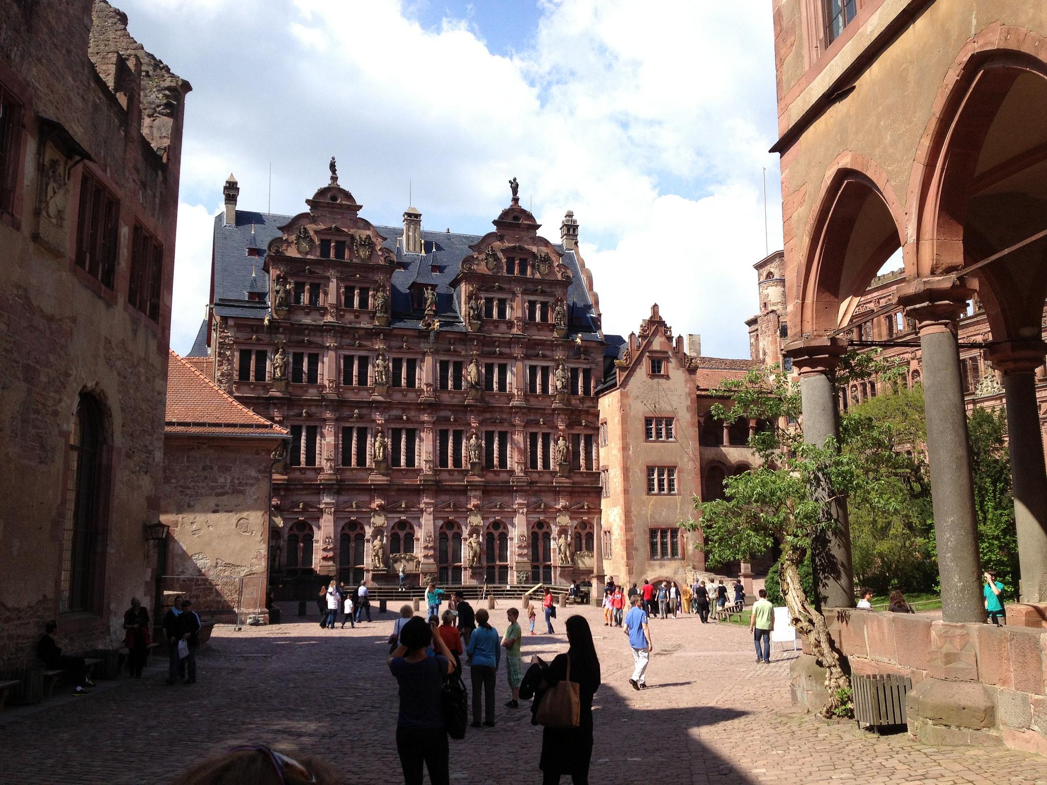 Отреставрированный Фридрихсбау, Гейдельбергский замок